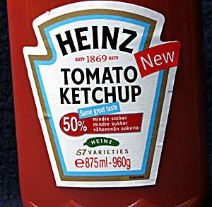 heinz ketchup socker