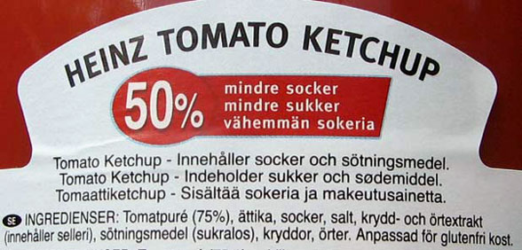 heinz tomatketchup ingredienser